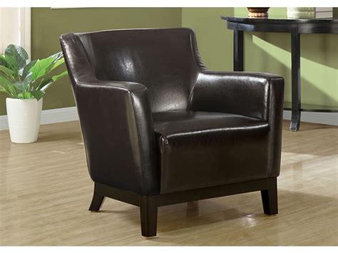 fauteuil d appoint simili cuir brun fonc 233 chaises et