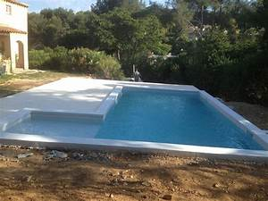 construction d39une piscine en beton marinal avec plage With piscine avec plage californienne