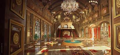 Deviantart Palace Concept Fantasy Castle Anime Najeeb