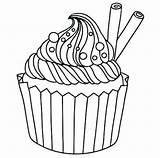 Cupcake Coloring Muffin Pages Cupcakes Drawing Cute Coloriage Banana Split Blueberry Cup Template Cake Drawings Ice Goods Clipart Baked Printable sketch template