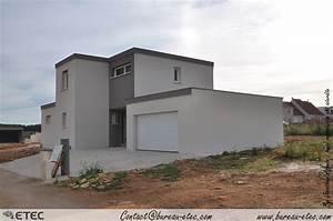 plan maison toit plat cliquez sur une photo pour air With plan de maison a etage 5 maison toit terrasse hauteville 2 etec