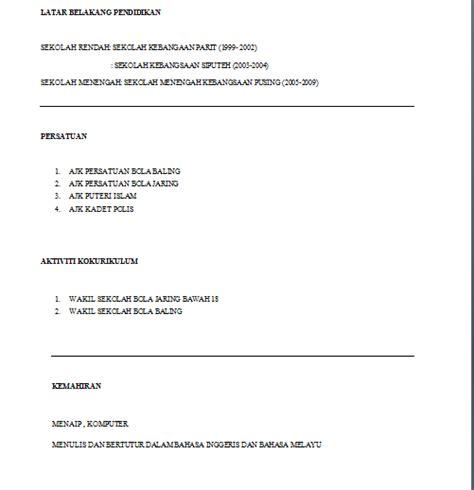Contoh Resume Student by Mamaalynn Contoh Resume Untuk Praktikal