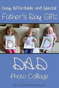 Father's Day Gift: Dad Photo Collage - I Watch Them Grow