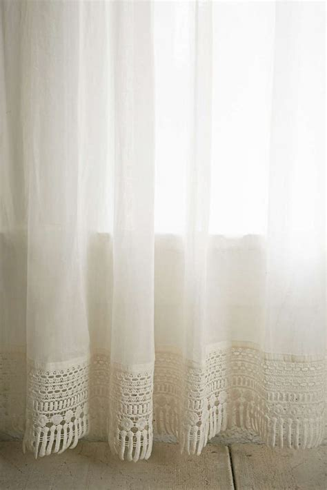 plum bow crochet trim curtain crochet trim and urban