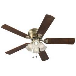 shop harbor breeze centreville 52 in antique brass flush mount indoor ceiling fan with light kit