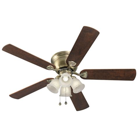 harbor breeze fans reviews shop harbor breeze centreville 52 in antique brass indoor