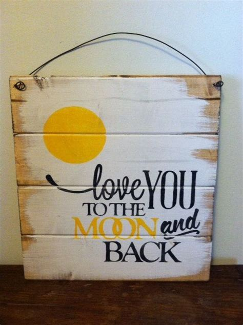 Love You To The Moon And Back 13w X14h Handpainted By