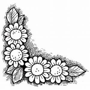 Black And White Flower Design Border Wallpaper - Quoteko ...