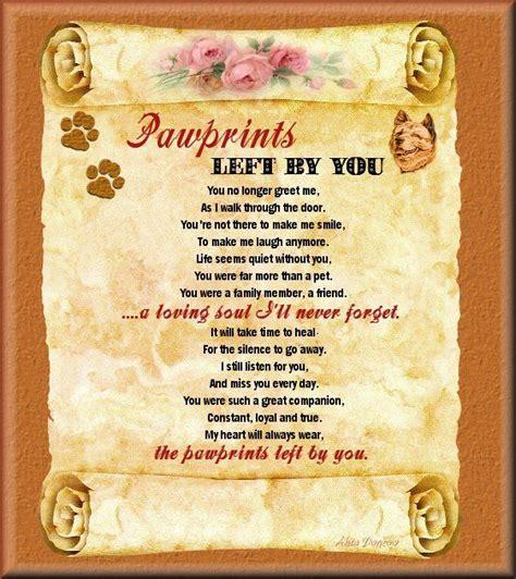 pawprints poem   dealing   loss   pet