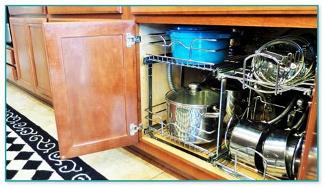 organize kitchen pots and pans organizing pots and pans in kitchen cabinets 7217