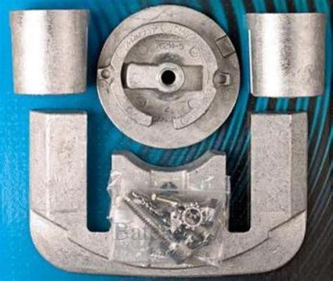 Aluminium Boot Zout Water by Aluminum Anode Kit Mercruiser Bravo 1 Aluminium