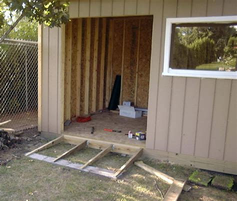 build  shed ramp  uneven ground  designs