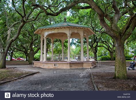 gazebo in battery park and white point gardens in