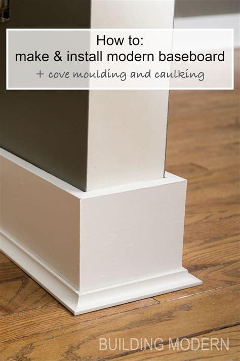 installing baseboards cove moulding caulking modern