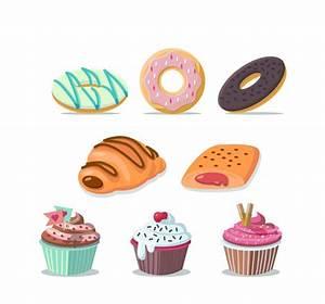 8 Cartoon Dessert Vector [AI]