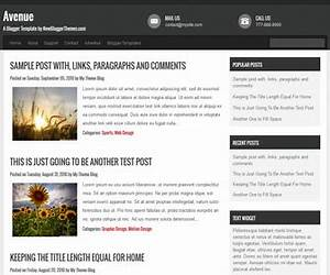 avenue blogger template newbloggerthemescom With xml templates for blogger free download