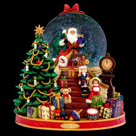 splendent santa snow globe  christopher radko