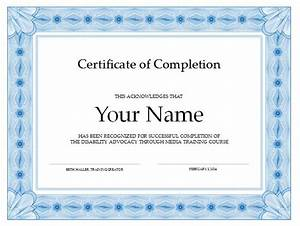 8 best images of create free certificate completion free With class completion certificate template