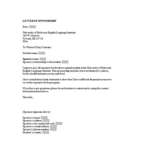 sponsorship letter sponsorship proposal