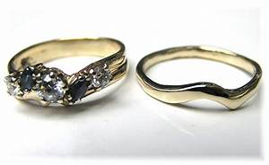 Hand Made Custom Handmade To Fit Curved 14k Gold Wedding