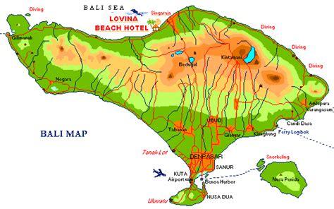 map  bali showing lovina beach hotel