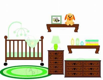 Clipart Nursery Clip Crib Bedroom Cliparts Church