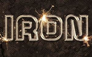 sparkling iron text effect welding metal psd font textuts With welded metal letters