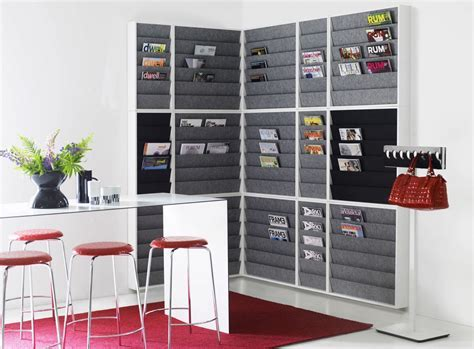 Wall Mounted Magazine Racks For Office   Decor IdeasDecor