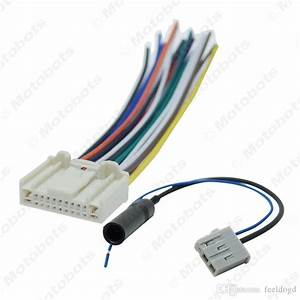 Car Stereo Audio Wiring Harness With Antenna Adapter Plug