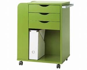Caisson Rangement Bureau : meuble bureau roulette petit bureau pratique lepolyglotte ~ Teatrodelosmanantiales.com Idées de Décoration