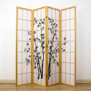 Zen, Garden, Room, Divider, Natural, 4, Panel