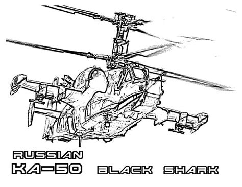 Apache Helicopter Kleurplaat by Russian Ka 50 Black Shark Apache Helicopter Coloring Pages