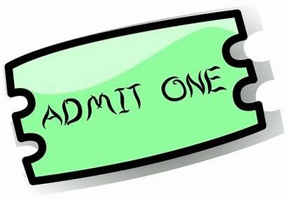 Raffle Cartoon Tickets Clipart Cliparts Ticket Clip
