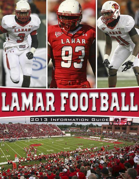 ISSUU - 2013 LU Football Information Guide by Lamar Athletics
