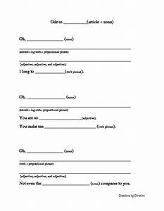 ode writing template by christine39s classroom teachers With ode lesson plan template