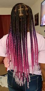 large knotless box braids in 2020 big box braids
