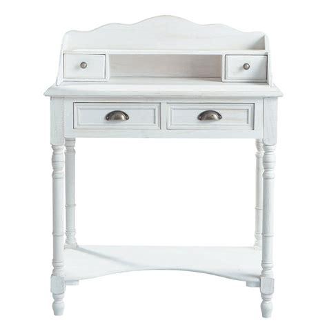 bureau secretaire bois bureau secrétaire en bois blanc l 80 cm joséphine