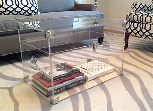 lucite trunk coffee table home design With acrylic chest coffee table