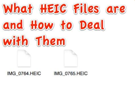 The standard covers multimedia files that can also include other media streams. HEIC is Apple's New Image Format - Here's How to Deal with It - The Internet Patrol