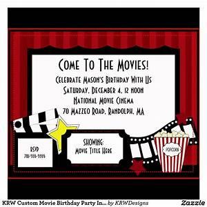 Birthday Invites Best Images Movie Birthday Party