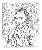 Gogh Van Portrait Self Rubber Stamp Coloring Vincent Stamper Frantic Franticstamper Cling Mounted Pages Colouring Sheets Sold Stamps sketch template
