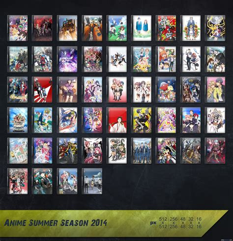 Anime Summer 2014 Folder Icon Pack Anime 2014 Summer Season Icon Pack By Skrixx On Deviantart