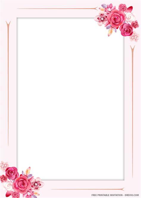 (FREE PRINTABLE) Floral Motives Wedding Invitation