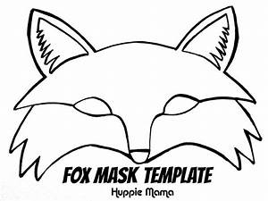 fox template fox mask template foxy fox pinterest With woodland animal mask templates
