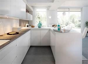 cuisine moderne blanche sans poignee ambiance pure mobalpa With cuisine blanche sans poignee