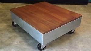 Table Sur Roulettes : table basse sur roulette ~ Teatrodelosmanantiales.com Idées de Décoration