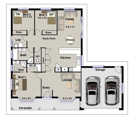 3 bedroom floor plans with garage 3 bedroom house plans for sale homestead