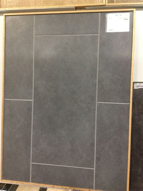 premium antrasit floor tile with gray grout laundry room