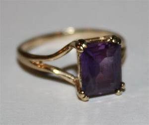 Vintage Amethyst Ring 10K Yellow Gold Ring by ...