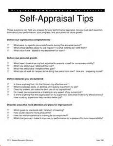 Employee Self Performance Appraisal Examples